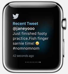 Twitter App for Apple Watch