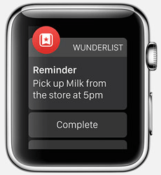 Wunderlist Apple Watch App
