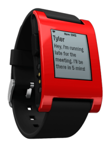 Red Pebble Smartwatch